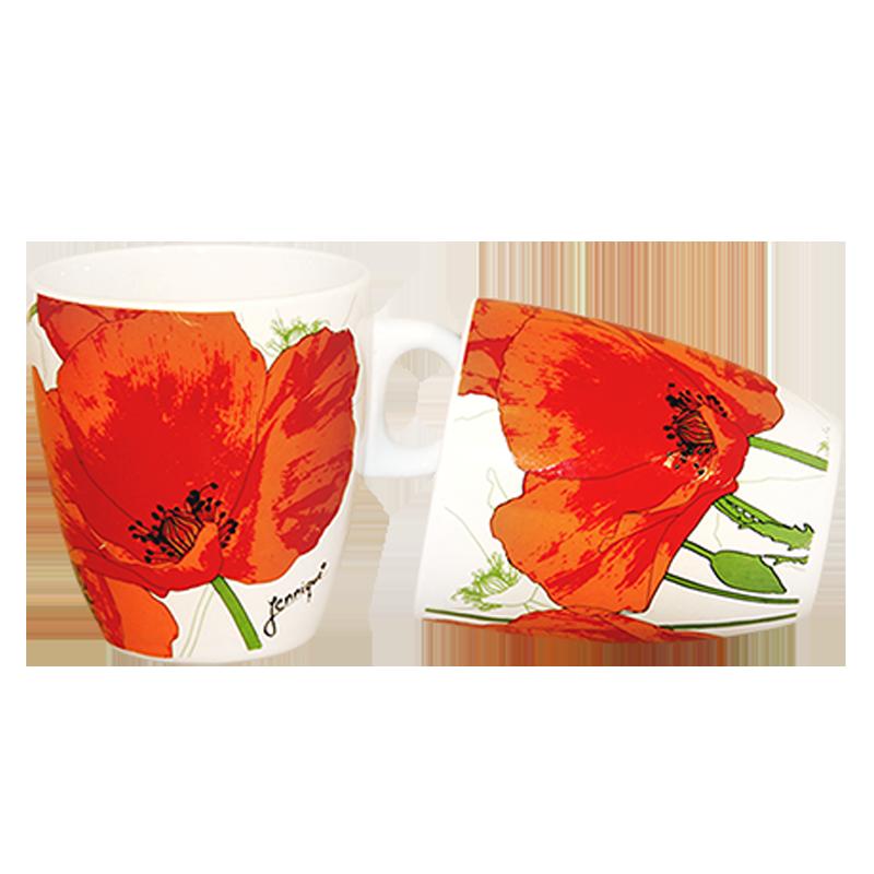 Coffee mug flowers