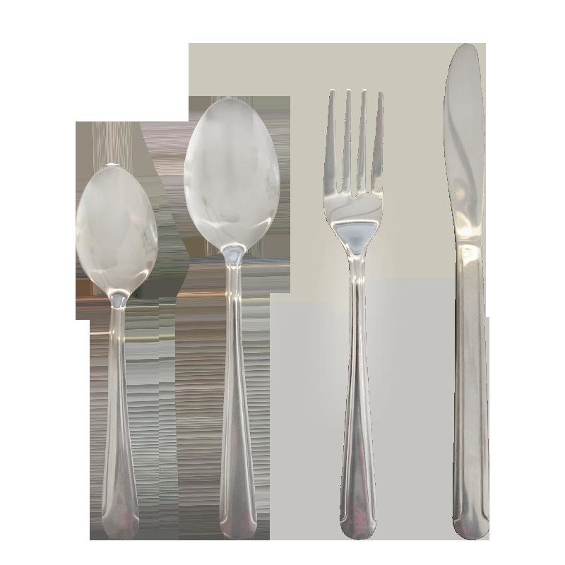 Cutlery set 16 pcs rounded handel