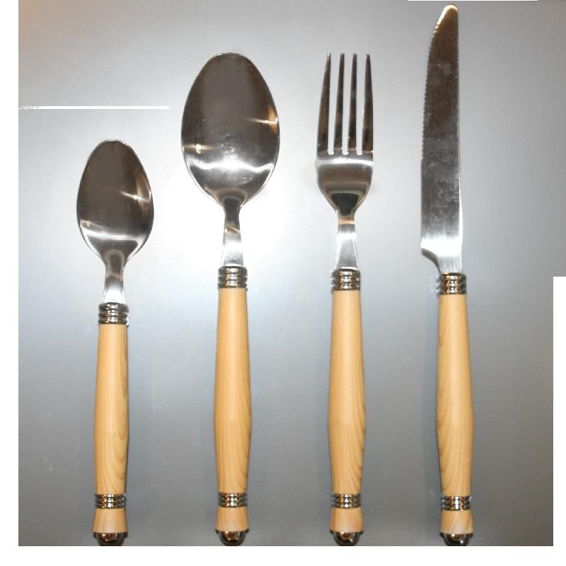 Cutlery sets wooden handels