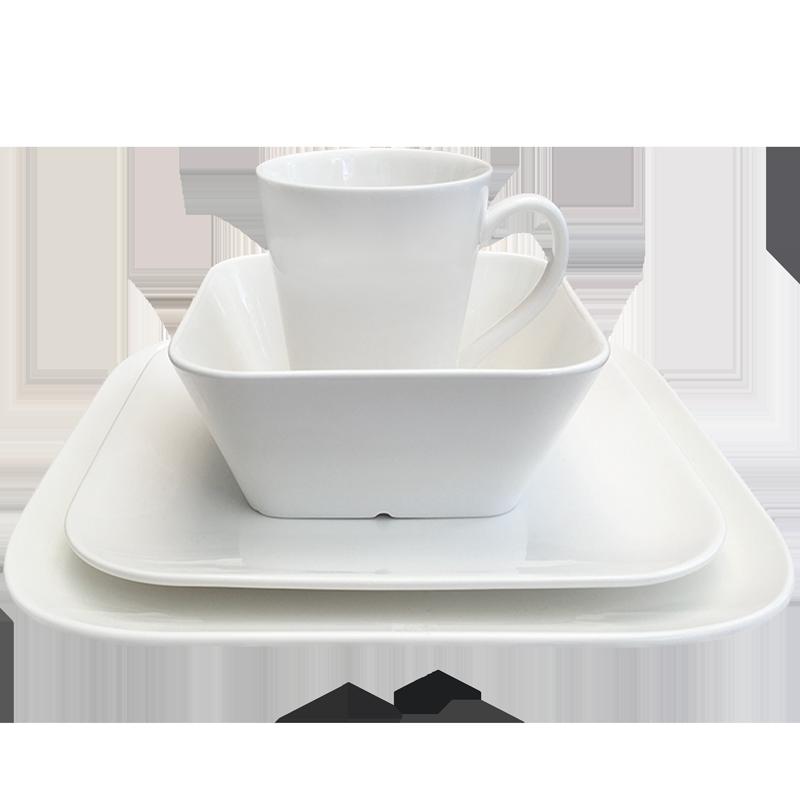 Dinnerware set soft-square New Bone China